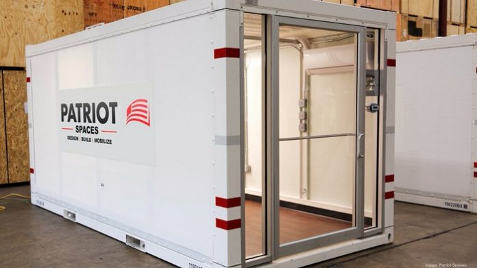 Patriot delivered six converted PODS storage containers to United Medical Center in Washington DC