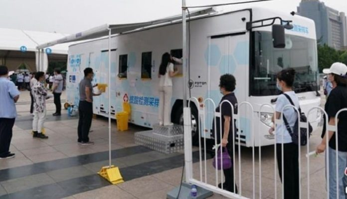 Mobile testing vehicles adopted in Xicheng District of Beijing