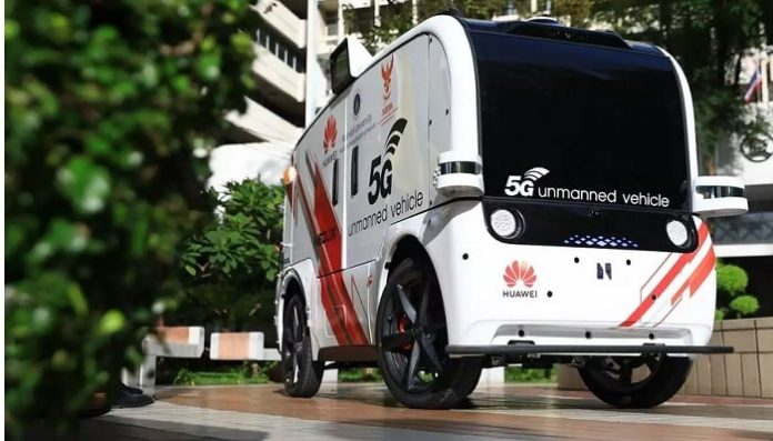 Huawei's 5G autonomous vehicle to deliver medical supplies in Thailand smart hospital