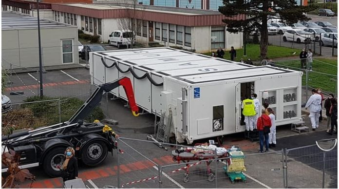 French state-of-the-art mobile hospital frees-up beds for Covid-19 patients in southwest
