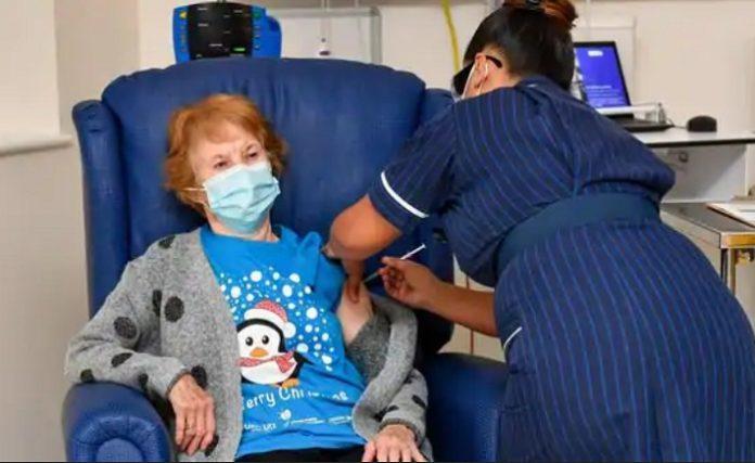 UK starts covid vaccination, 90-year-old Keenan gets first Pfizer shot