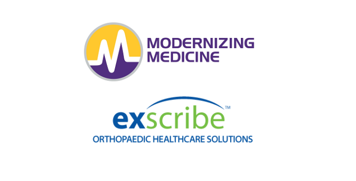 Modernizing Medicine Announces Acquisition of Orthopedic Healthcare Technology Company, Exscribe