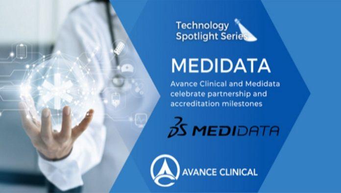Avance Clinical and Medidata Celebrate Strategic Partnership and Inhouse Expert Accreditation Milestones