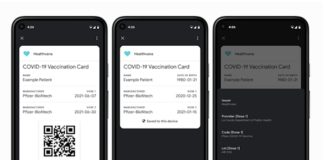 Google Launches COVID Card API for Android, displaying vaccination status and test results