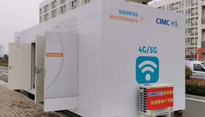 CIMC delivers mobile CT scan cabin to Huangzhou General Hospital to diagnose coronavirus