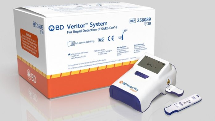 BD Announces CE Mark of Portable, Rapid Point-of-Care Antigen Test to Detect SARS-CoV-2 in 15 minutes