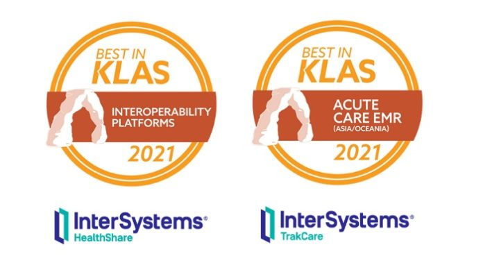 KLAS Research honours InterSystems TrakCare and HealthShare Unified Care Record for exceptional work and customer satisfaction